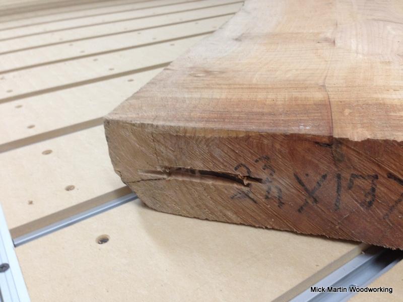 Milling coffee table maple slabs
