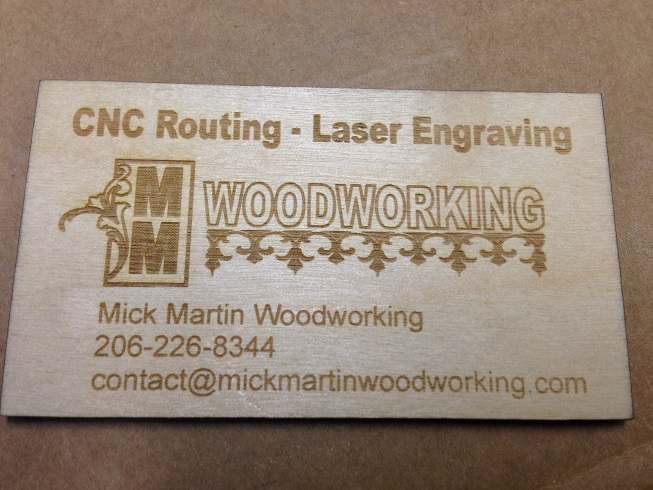 Wooden business card mick martin woodworking wooden business card colourmoves
