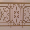 Paper wrought iron fence